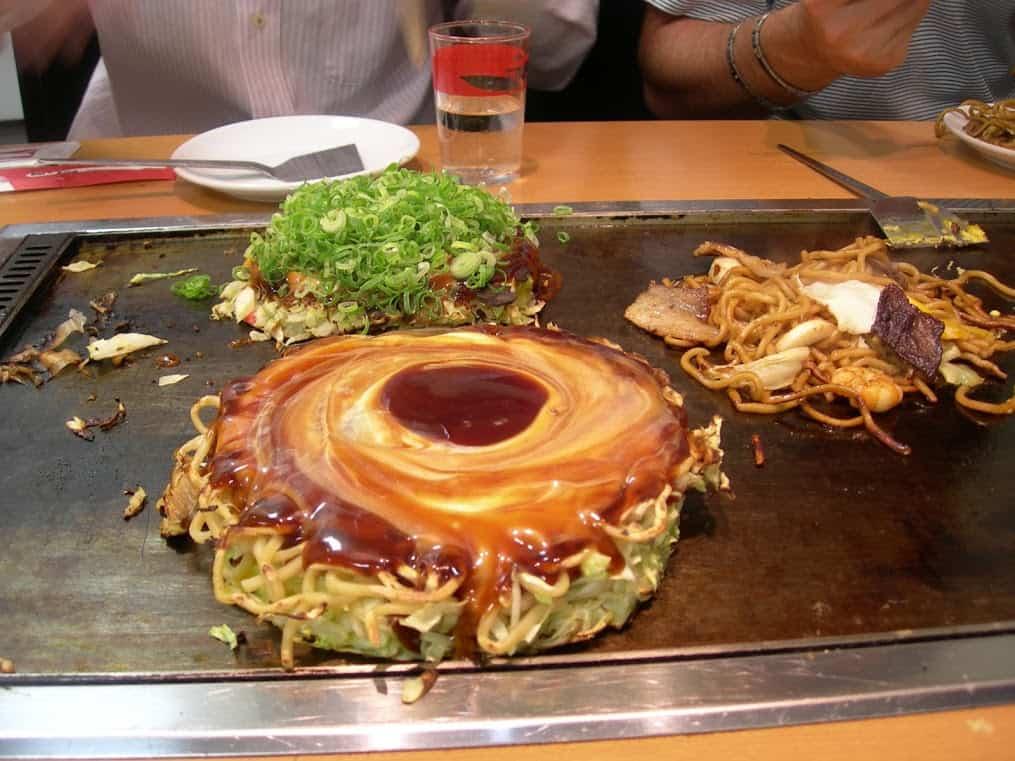 Okonomiyaki e Negiyaki a Osaka
